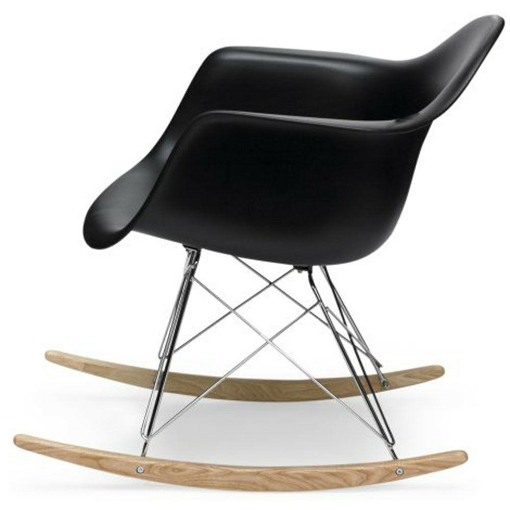Black Century Modern Vintage Rocking Chair Molded