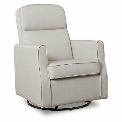Delta Nursery Swivel Chair, Taupe