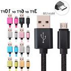 Braided Micro USB Fast Charging Cable Cord Sync For Android