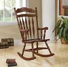 Traditional Wood Rocking Chair Accent Indoor Porch Rocker Nu