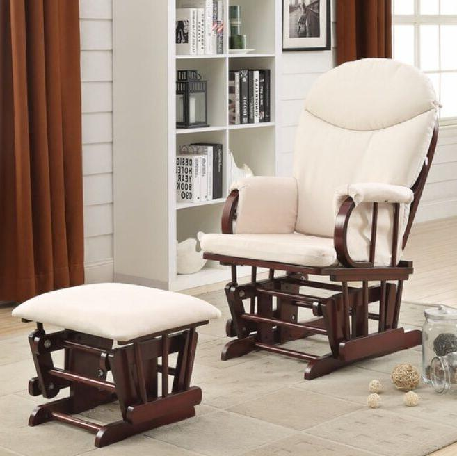 cherry glider ottoman gliders baby nursery furniture