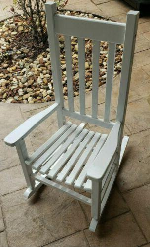 childrens rocking chair by in white new