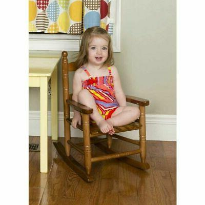 Childs Wooden Rocking Chair Kids Toddler Boys Girls Small Na