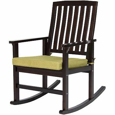 Best Choice Products Contemporary Patio Wood Rocking Chair W