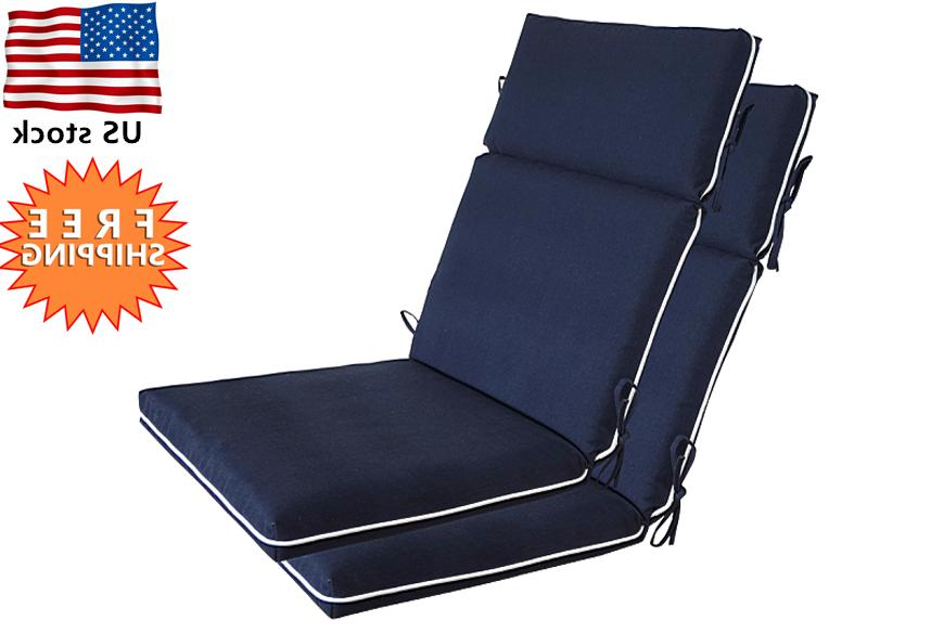 Bossima Outdoor Cushions Patio High Back Chair Seat Pad Set