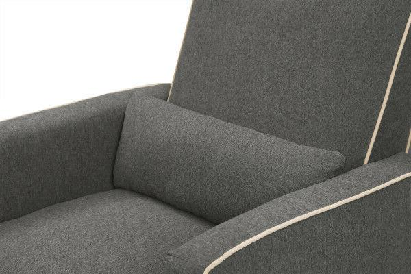 DaVinci Olive Upholstered Glider with in Dark Cre