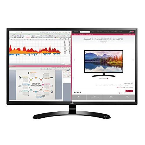 Brand New LG 32MA68HY-P 32-Inch IPS Monitor with Display Por
