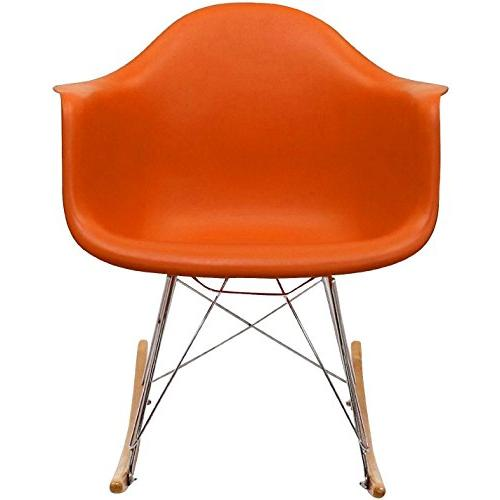 Modern Molded Plastic Armchair Arm Chair Patio Room Rocker Replica Decor Furniture DSW