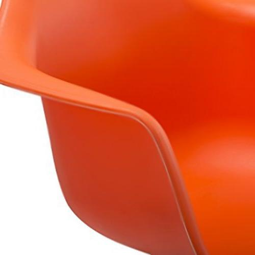 2xhome Orange Modern Plastic Chair Armchair Chair Patio Lounge Garden Nursery Room Rocker Replica Furniture DSW