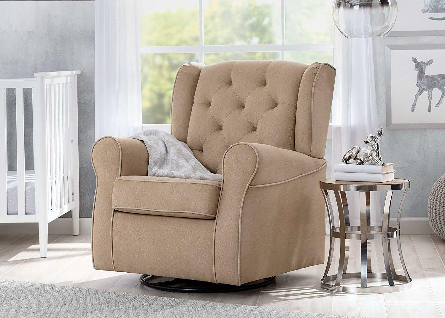 Delta Upholstered Glider Swivel Rocker Dove