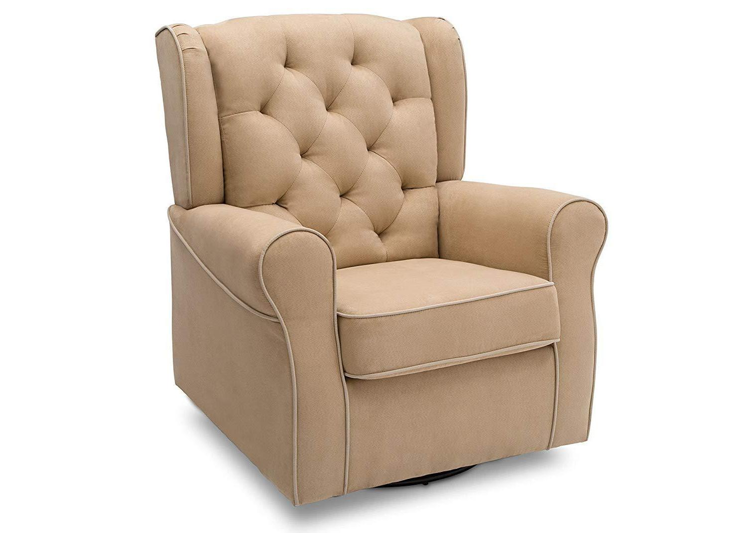 emerson upholstered glider swivel rocker chair dove