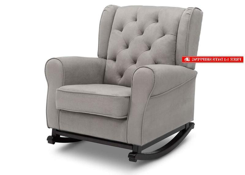 emma upholstered rocking chair dove grey