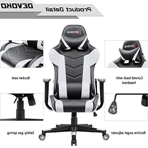 Devoko Gaming Chair High-Back Chair with Headrest Support Executive Office