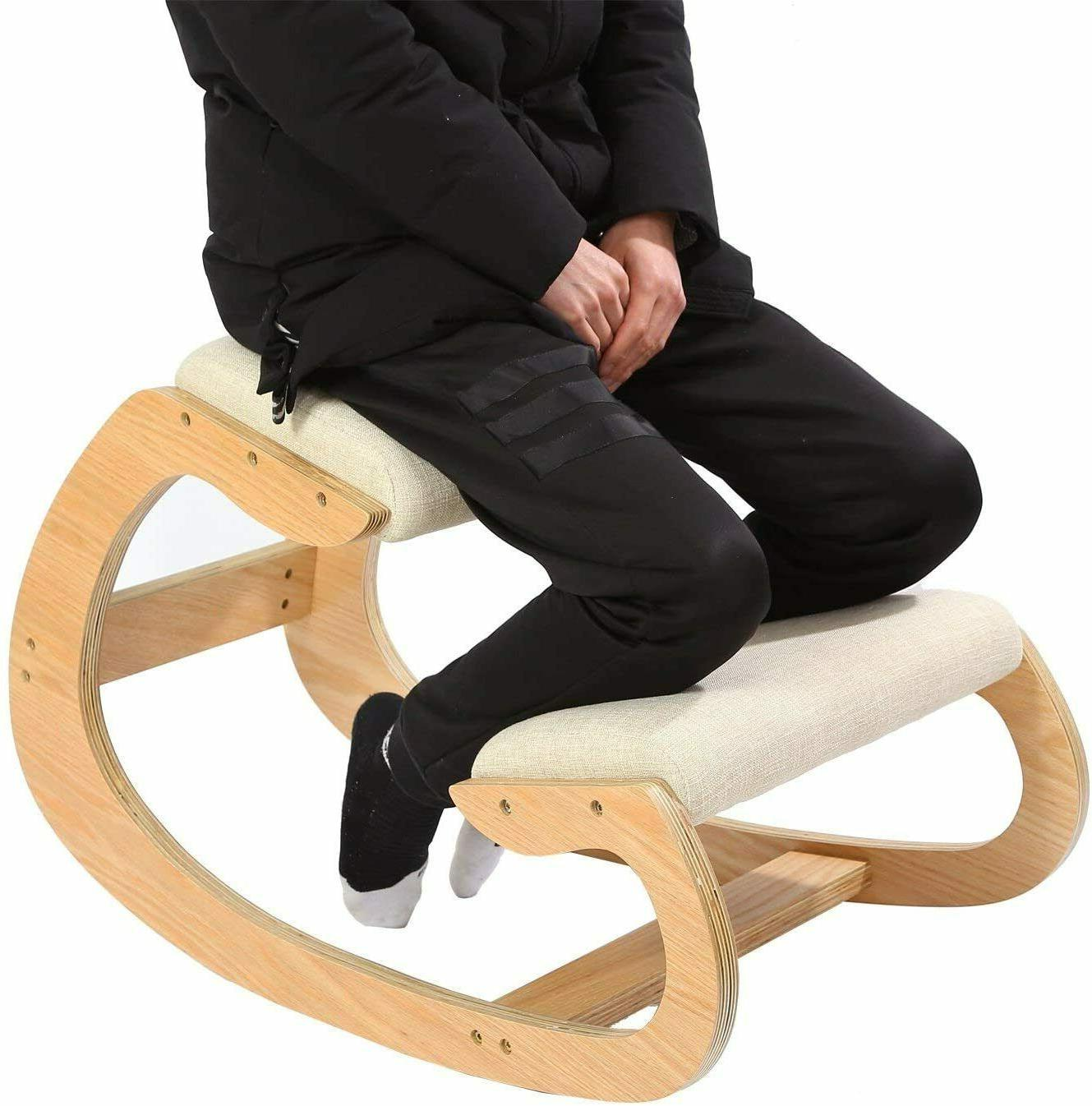 ergonomic kneeling chair for upright posture rocking
