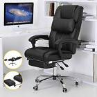 Office Chair Executive High Back Reclining Black Leather Com