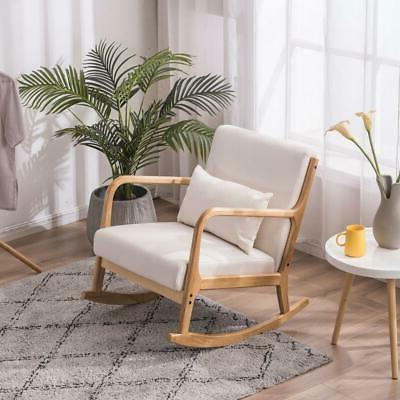 Fabric Back Solid Legs Padded Living Seat
