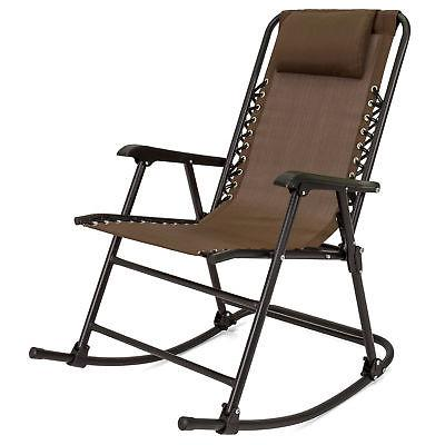 Best Choice Products Foldable Zero Gravity Rocking Patio Rec