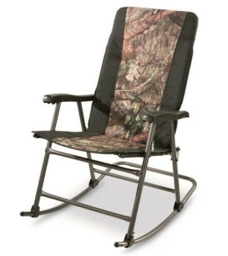 Folding Chair, 500lbs Camping Rocker Seat Furniture, Camo