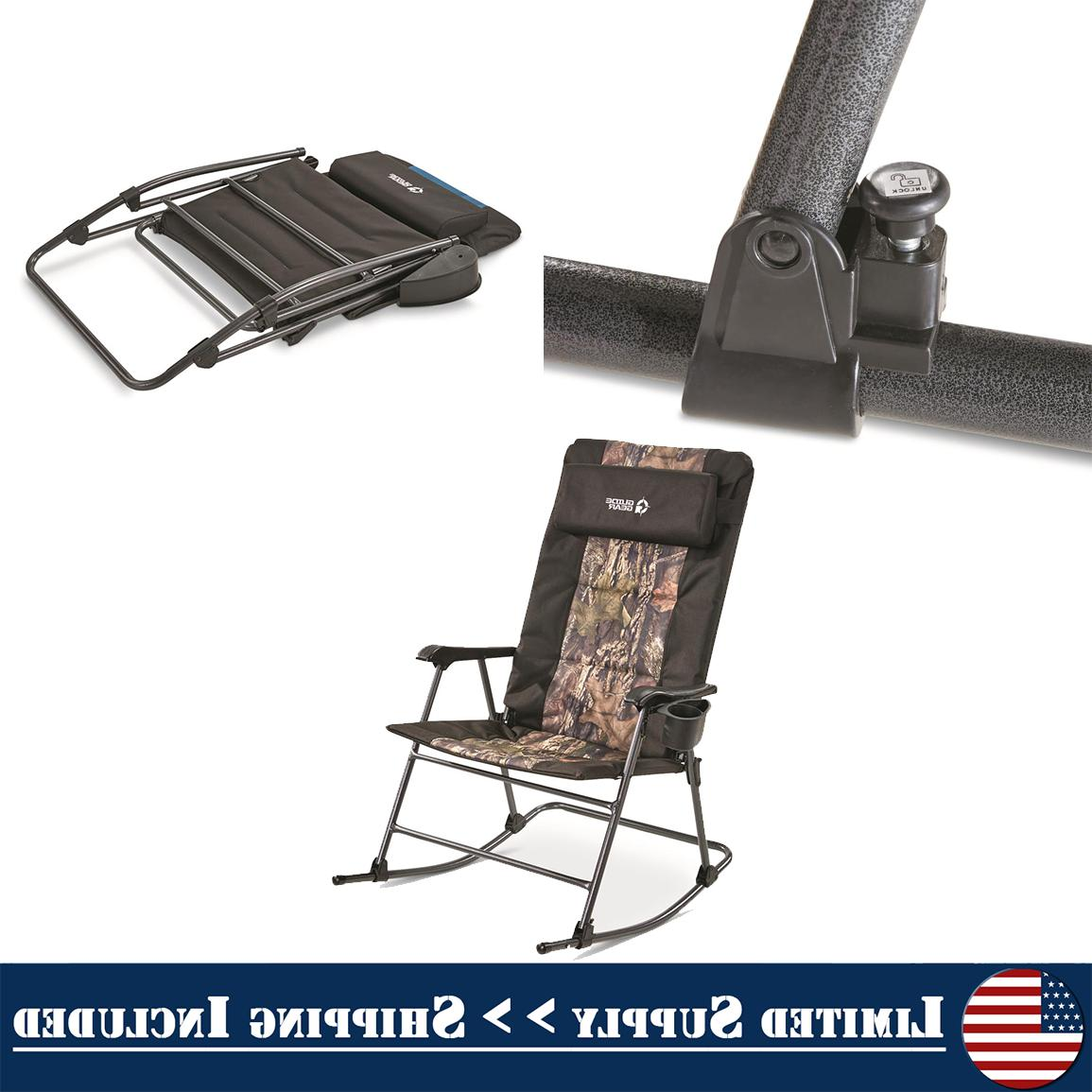 folding rocking chair 500lbs camping rocker outdoor