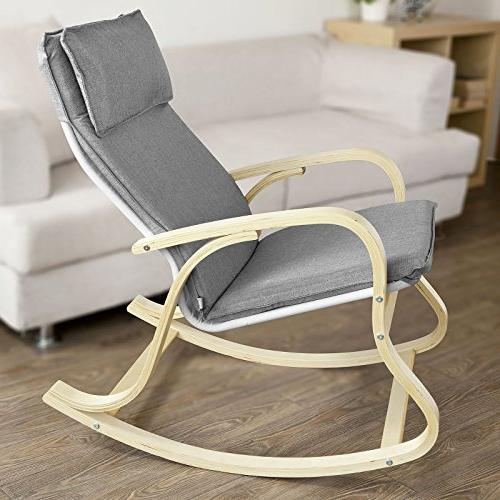 Haotian FST15-DG, Comfortable Rocking Chair, Relax Chair Fabric