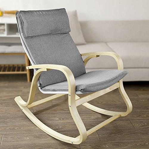 Haotian Relax Rocking Lounge Chair Relax Cotton Fabric