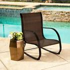 Abbyson Gabriela Espresso Outdoor Wicker Rocking Chair Espre