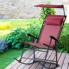 Garden Zero Gravity Foldable Rocker Porch Rocking Chair W/Pi