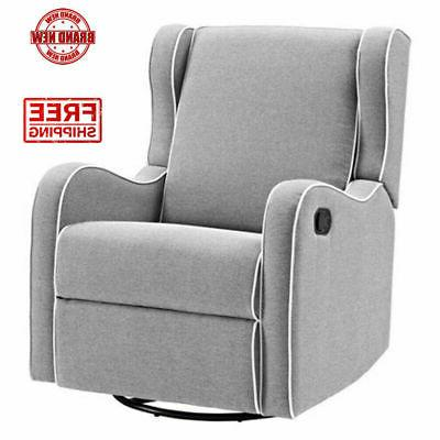 Glider Baby Rocker Rocking Chair Swivel Recliner Nursery Fur