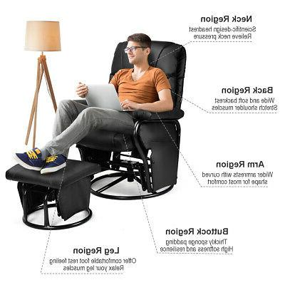 Glider Chair PU Leather Office