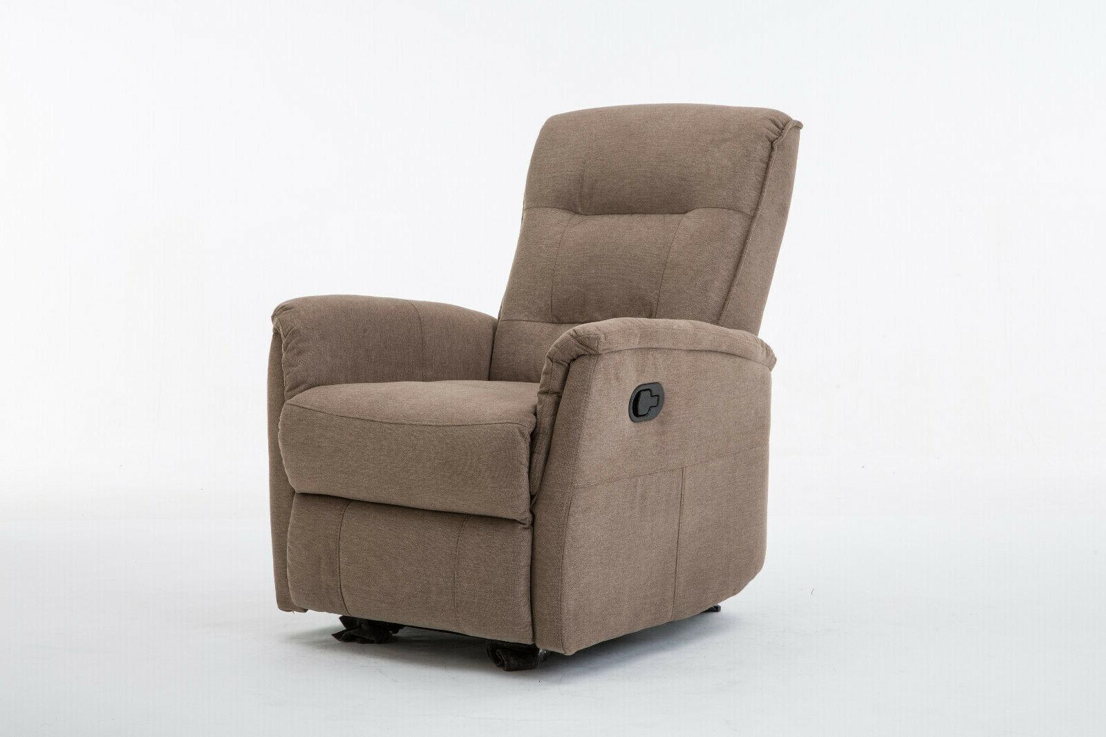 Glider Chair with Overstuffed- Brown
