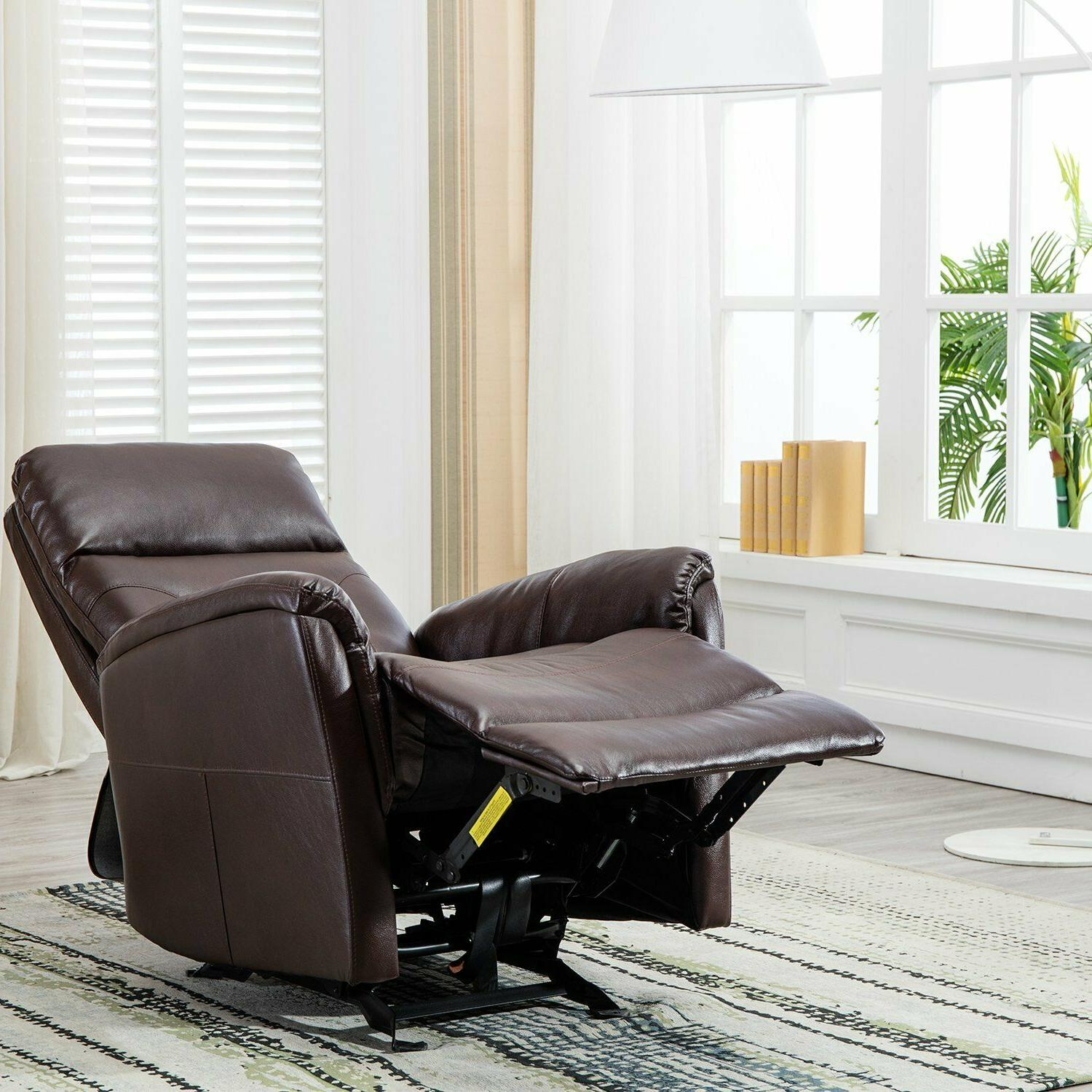 Glider Recliner Leather Living Room