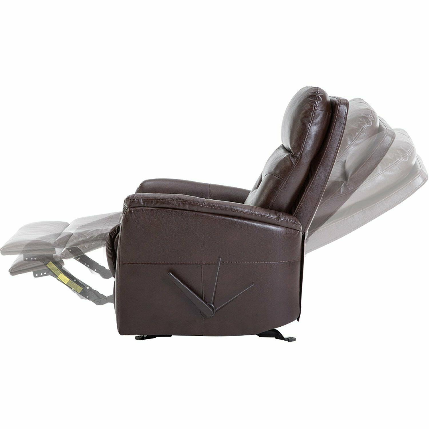 Glider Recliner Leather Gliding Chair,
