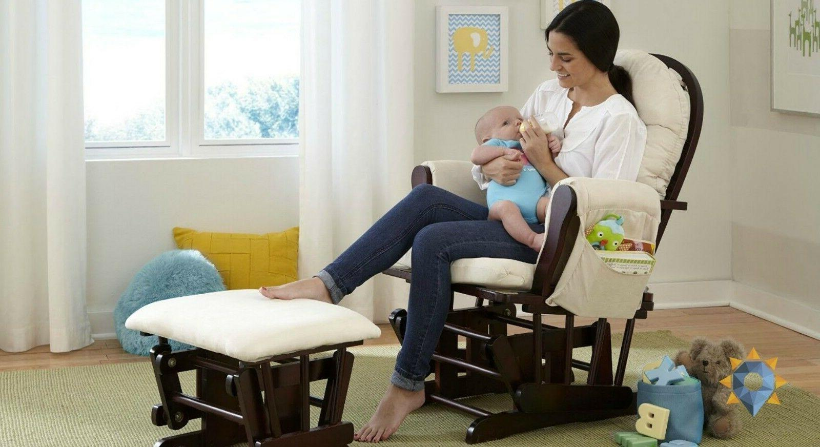Gliding Chair Nursery Rocker Wooden Chairs Mother and