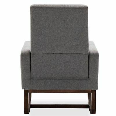 Gray Living Room Chair Back Padded Seat