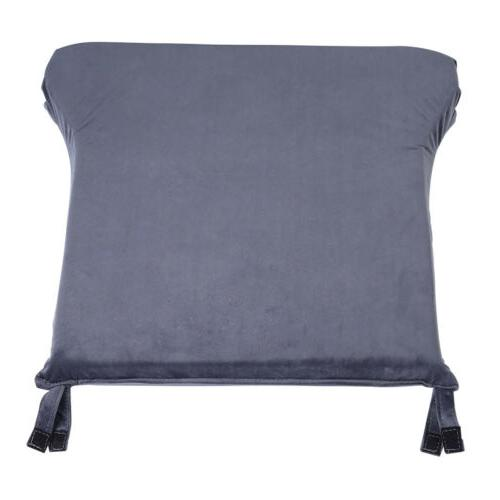 Grey Velvet Cotton Chair Pad Home