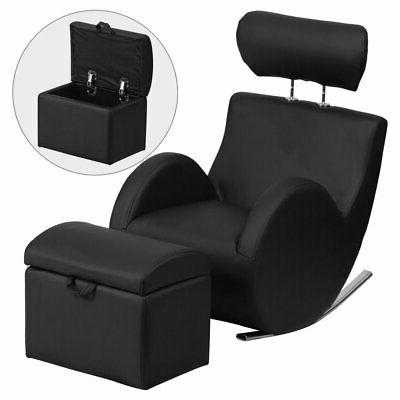 Flash Furniture HERCULES Series Vinyl Rocking Chair with Sto