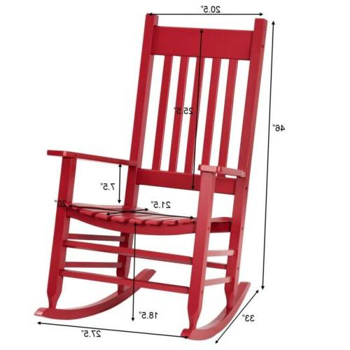 Wood Chair Rocker Deck Garden Backyard