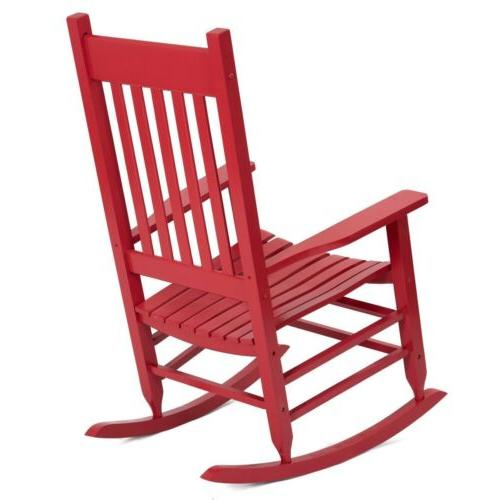 Wood Rocker Patio Deck Garden Backyard Furniture