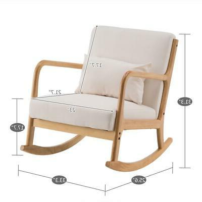 Fabric Back Solid Wood Curved Legs Padded Seat US