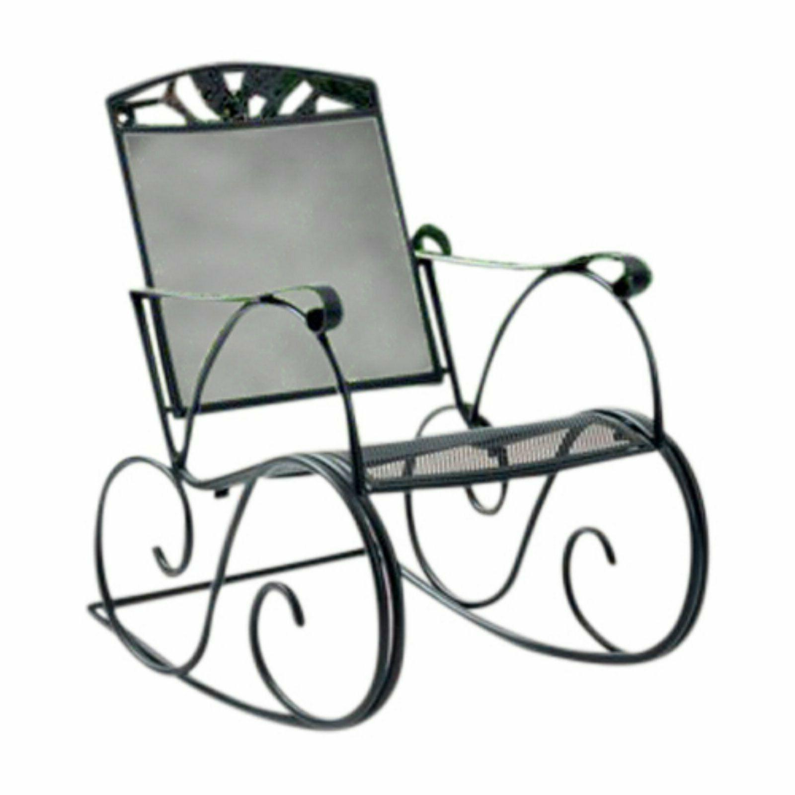 Mainstays Jefferson Outdoor Wrought Iron Black Chair