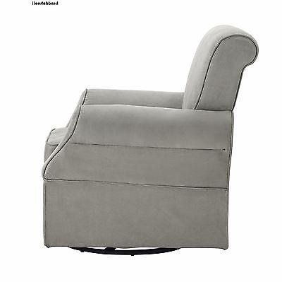 Kelcie Swivel Glider and Ottoman