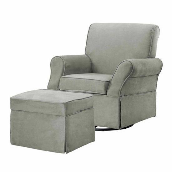 kelcie swivel glider chair ottoman