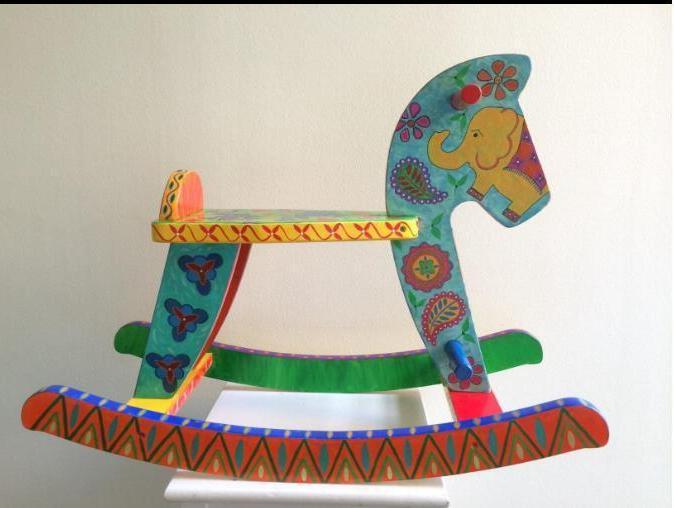 Kids White Pony Rocking Horse Rocker