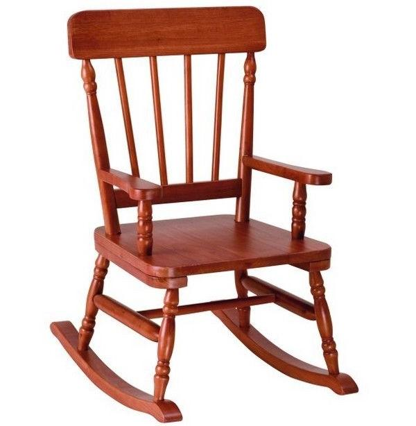Kids Rocking Chair Wood Nursery Furniture Decor Child Play S