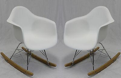 kids rocking chairs in white set of