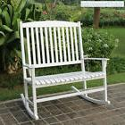 large rocking bench white 2 seater patio