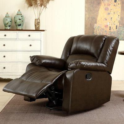 leather black brown single seat living room