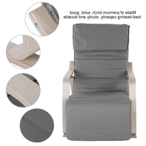 Ergonomic Chair Lounge Removable Cushion W/ Pillow For In/Outdoor