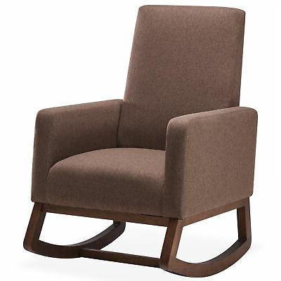 living room rocking padded seat upholstered fabric