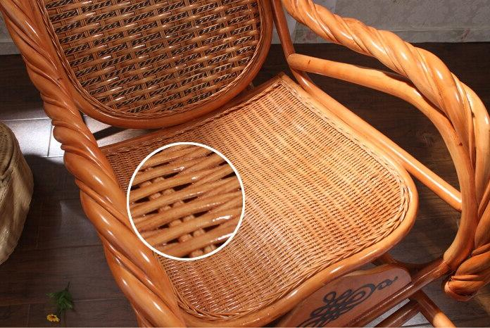 Luxury Rattan Furniture Living <font><b>Glider</b></font> Modern Rattan Easy Adult